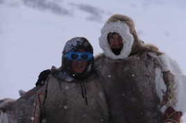 Russian guide with Nenet Yamal Polar Urals